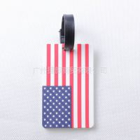 供应佳途时尚行李牌/旅游行李吊牌 登机牌 证件套  旅游用品美国国旗