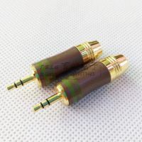 秋叶原古铜3.5立体8.5mm大孔径耳机装配插头 纯铜镀3.5三级装配头