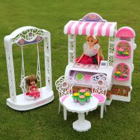 乐吉儿正品蛋糕花店芭比娃娃套装礼盒正品2014女孩公主玩具