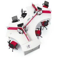 广州办公家具简约木质办公桌椅屏风工作位批发定制