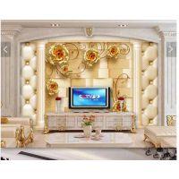 拼花微晶石电视背景墙价格 玻璃瓷砖彩雕机
