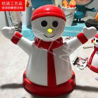 【铠涵】玻璃钢雪人雕塑 圣诞节雕塑 商场圣诞节美陈摆件