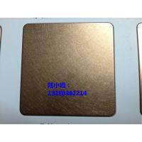 供应201玫瑰金和纹不锈钢板 哑光茶色乱纹不锈钢板 古铜色不锈钢乱纹板