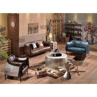 铝皮铆钉匙羹椅loft工业风金属勺子椅个性休闲转椅酒吧椅子咖啡椅