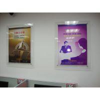 深圳观澜亚面力双层夹画展板,亚克力宣传展板制作厂家