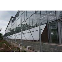 现代农业园区连栋玻璃温室大棚建设