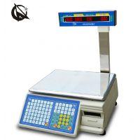 太原条码电子秤,超市标签秤,带打印不干胶电子秤