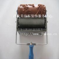 供应【畅销产品】橡胶印花滚花滚筒模具液体壁纸漆施工工具滚花装饰机