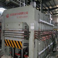 青岛国森利用速生木皮生产强化单板层积材工艺设备lvl生产线
