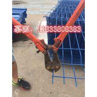 桃形柱护栏网的安装与裁剪----慕源张丹专业安装