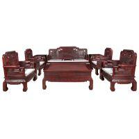 天津誉典福红木家具店古典国色天香沙发系列 客厅红木家具