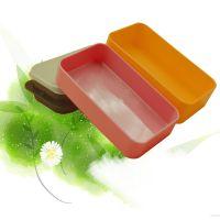 新品上市 双层日韩便当盒 保鲜盒 方形饭盒 塑料便当盒 双层饭盒