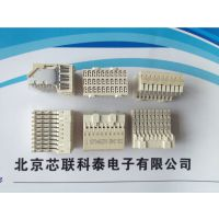 ERNI恩尼母型弯脚式60/30针压接式高速PCB连接器973028