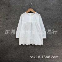 15新款外贸童装 女童定制面料 全棉长袖衬衫 童衬衫厂家直销批发