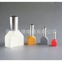 厂家供应销售冷压端头 接线端子 双线管型预绝缘点头 TE10-14