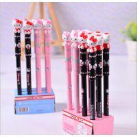 日韩天卓31323 Hello Kitty学生中性笔 可爱凯蒂猫碳素笔 0.5mm