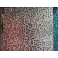 供应201红古铜自由纹不锈钢板 哑光拉丝红古铜不锈钢板 哑光红古铜自由纹不锈钢