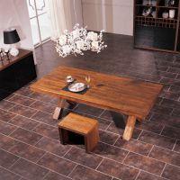 新品推荐 美式乡村铁艺餐桌 海德利复古做旧咖啡厅桌子定制