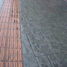 济南济阳彩色路面压花地坪模具 艺术压模地坪模具 压印模具 颜色样式任选13573105335