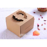 厂家生产 6寸手提牛皮纸蛋糕盒 精致西点盒包装 多规格可定制