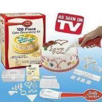 100件套蛋糕模具 塑料裱花器套装 翻糖蛋糕装饰模 DIY饼干印花模