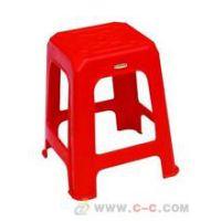 淄博大量出租红色塑料方凳/贵宾椅
