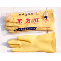 A012 优质正品东方红胶手套 牛筋乳胶手套