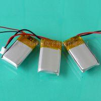 供应 602035聚合物锂电池 3.7V 400MAH 带保护板鞋灯 蓝牙 音箱电池