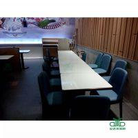 深圳品牌餐饮店 水晶白大理石餐桌椅 餐厅餐桌椅批运达来定做