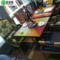 多多乐家具定做美式复古酒吧桌椅 工业风铁艺餐桌 主题餐厅家具定做