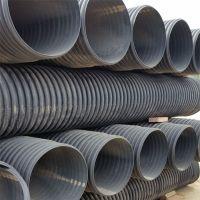 畅销 大口径黑色排水管《国标》PE双壁波纹管聚乙烯材质