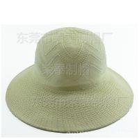 简约时尚纯色编织草帽圆顶遮阳帽纸草草编户外遮阳防晒帽农用帽子