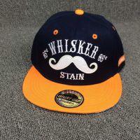 新款韩版小胡子WHISKER平沿棒球帽男女潮流嘻哈街舞休闲平沿帽子
