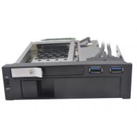 USB3.0硬盘盒2.5 3.5寸双盘位光驱位内置硬盘抽取盒,型号ST7222U