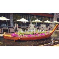 庆荣木业供应景观装饰船道具船婚纱摄影船室内装饰船