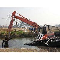 城市内河清淤设备 湖南内涝清淤泵 统一高效水陆两栖挖掘机