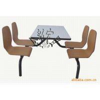 代理加盟 餐厅曲木餐桌椅 快餐店餐桌椅连体 肯德基餐桌椅