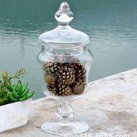 低价供应创意欧式玻璃摆件玻璃罐 家居装饰玻璃摆饰 GA986-20L