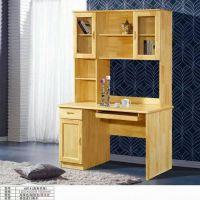 全实木书桌书架柜组合橡木写字电脑台桌直角双层书台现代简约新款