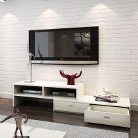 三杉木质家具 组合白色电视柜 客厅视听柜 酒店电视柜定做出口