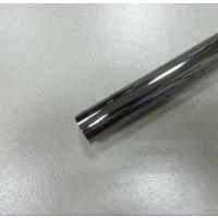 杭州拉丝 黑钛304不锈钢圆管