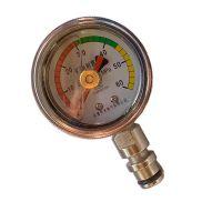 温州生产矿用双针耐震压力表 双针记忆型 插杆式连接 乔木电气可做中性标牌