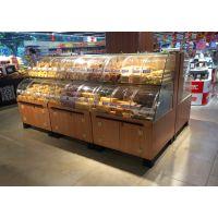 大沣DF-028透明弧形玻璃散装休闲食品货架展示柜
