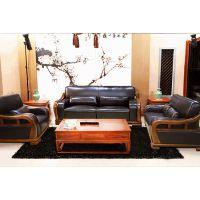 长沙市星沙博丰家居广场中式家具风格A家家具乌金楠木实木客厅沙发组合