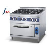Commercial 6-burner gas range with electric oven (FGR-76E) Kitchen Equipment