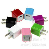 3代苹果绿点充电器足1000毫安彩色美规-手机华为三星-工厂直销