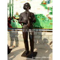 萨克斯手铜像 铜雕音乐人 酒店客厅大型落地人物铜像摆件 07