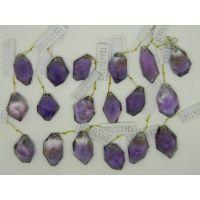 【天然水晶】紫水晶吊黄晶挂件 紫黄晶菱形吊坠