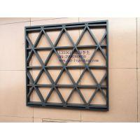 滁州蓝色 黑色三角形铝格栅天花吊顶 铝格栅