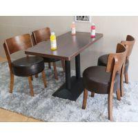 深圳厂家直销 茶餐厅家具 防火板快餐桌椅 现代餐厅四人位餐桌